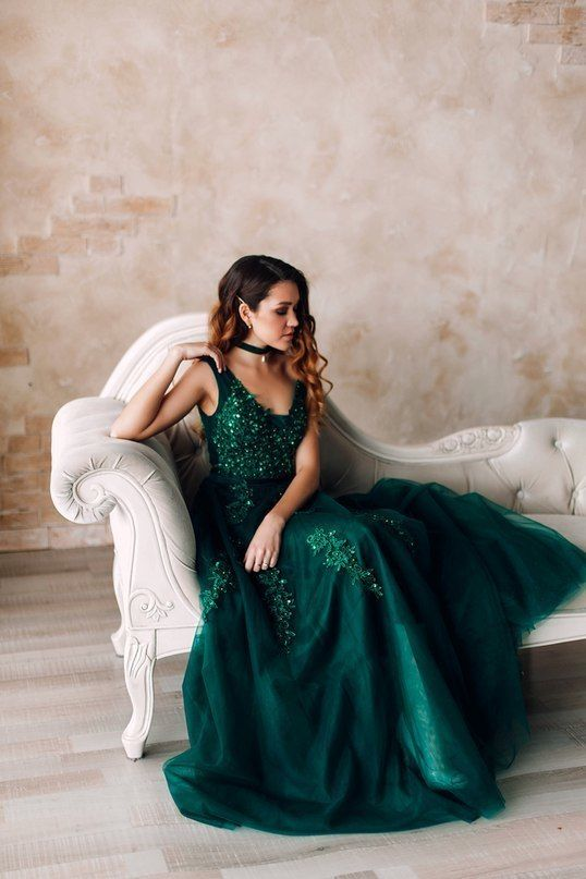 a8255833a7bd Charming Prom Dress, Elegant Tulle Prom Dresses, Long Evening Dress by prom  dresses, $154.56 USD. Elegant Dark Green ...