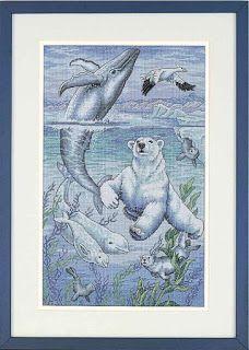 ENCANTOS EM PONTO CRUZ: Urso com Golfinho em Ponto Cruz