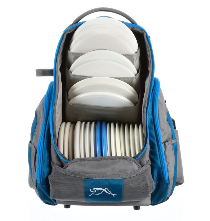 The Rebel disc golf backpack bag has been in development for over a year and from the design to the choice of materials, our obsessive attention to detail can be seen with every stitch. Weighing in at only 3lb 11oz it sports the classic Upper Park style with the same focus on comfort and build quality. We paired our vertical storage with the common lower-level horizontal storage so capacity is an easy 25 discs.