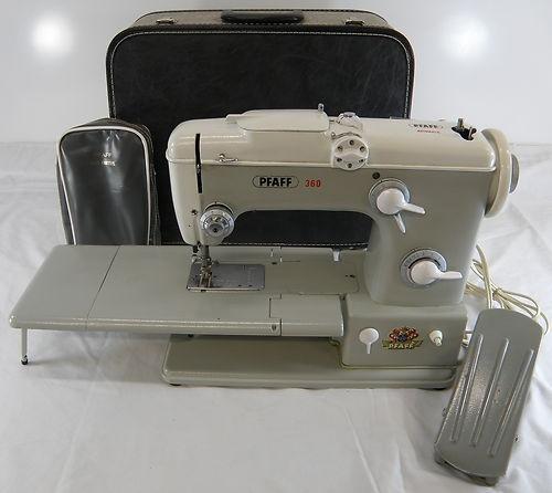 vintage pfaff 360 free arm sewing machine w case ebay. Black Bedroom Furniture Sets. Home Design Ideas