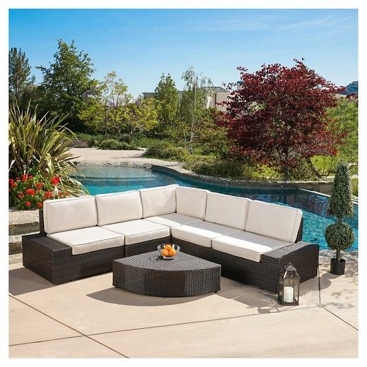 The Christopher Knight Home San Vicente 6-piece Cast Aluminum Patio Sofa Set with Sunbrella Cushions helps remove the stress about having your guests sit comfortably outside. With this large outdoor sofa set, you will always have plenty of comfortable seats for your friends and family to lounge and relax.