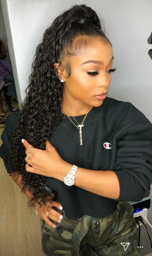 Gorgeous High Ponytail Hairstyles for Black Women