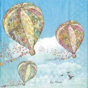 Hot Air Ballons servítky balóny,