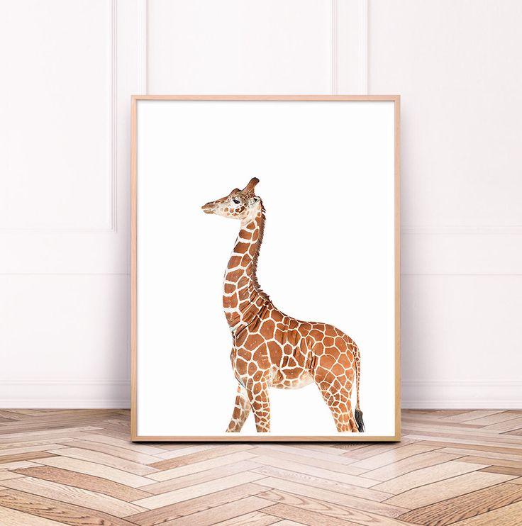 Baby Giraffe Digital Print, Minimalist Nursery, Safari Decor, Baby Animals, Wildlife Art, Zoo Wall Art, Safari Kids Room Art, Printable Art by SisiAndSeb on Etsy https://www.etsy.com/listing/552070696/baby-giraffe-digital-print-minimalist