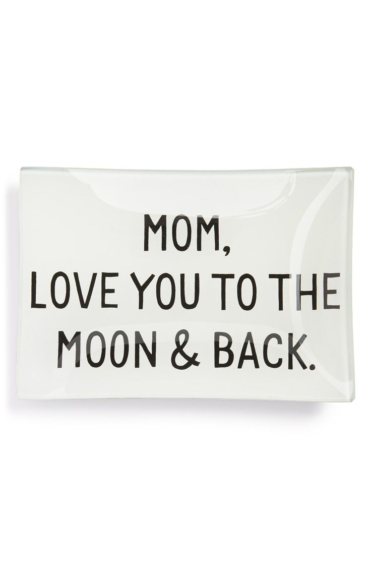 Tell mom how much you love her with this special handcrafted glass tray.