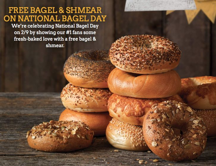 Free Bagel and Shmear at Einstein Bros. Bagels Deal 2/9/17 - https://couponsdowork.com/2017/restaurant-coupons/free-bagel-and-shmear-at-einstein-bros-bagels-deal-2917/
