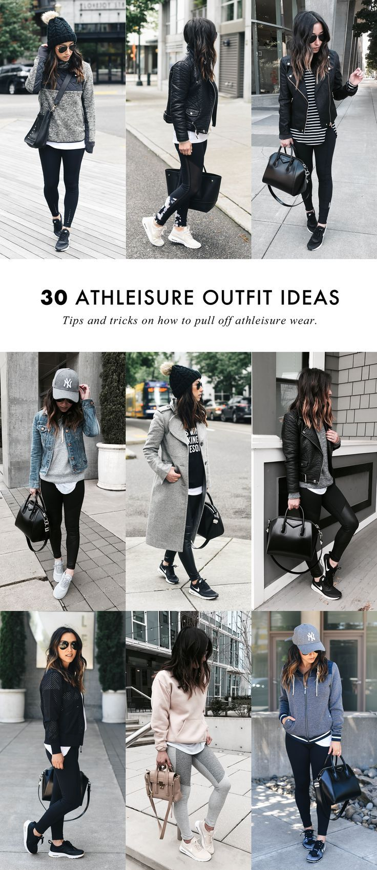 Style tips on how to wear the athleisure trend. #a…