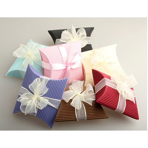 Corrugated Pillow Box set 25 boxes by verryberrysticker on Etsy. Wrapping GiftsWrapping IdeasAssembly ...