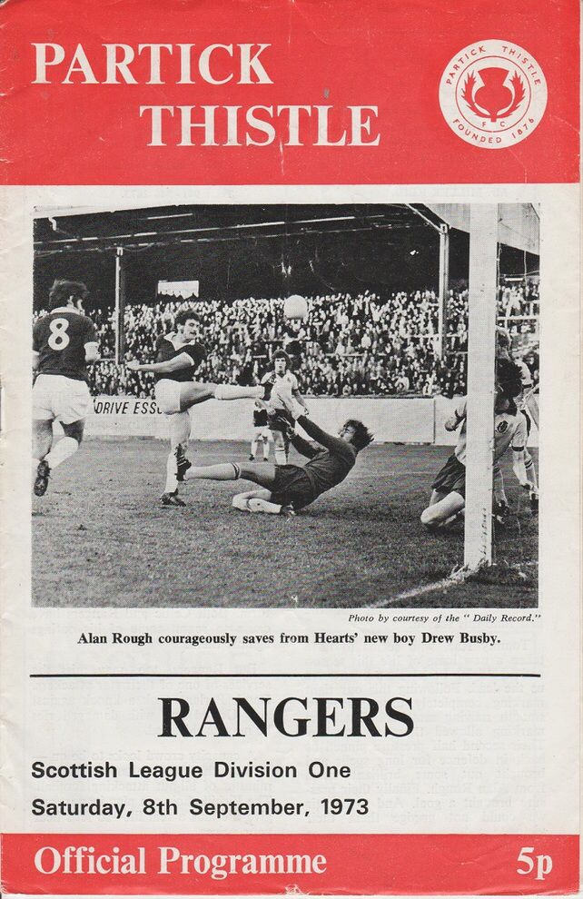Partick Th 0 Rangers 1 In Oct 1973 At Firhill The Programme Cover For The Scottish 1st Division Clas Glasgow Rangers Football Football Program Football Firms