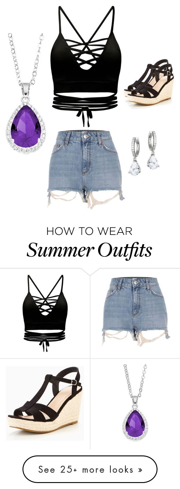 """Summer Outfit"" by jelly12-861 on Polyvore featuring City Rox, River Island and Kate Spade"