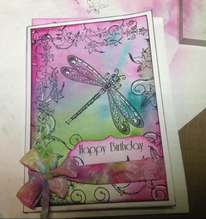 Distress Inks&Paints,Kaszazz stamps. By Carolyn Shaw.