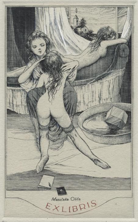 Erotic ex libris alphonse inoue
