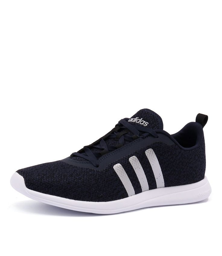 Get your flex on with this flexible neoprene-like textile sneaker. Featuring a CLOUDFOAM™ ultra sock liner for supreme comfort and lightweight, superior cushioning. Shop 'Cloudfoam Pure Navy/Silver/Black' by Adidas Neo at styletread.com.au