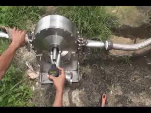 Tesla Turbine 10 kW Final Test, 70 PSI, 850 RPM - YouTube