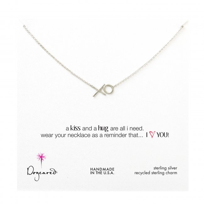 Dogeared XO Kiss and A Hug Necklace - Sterling Silver, $84.95