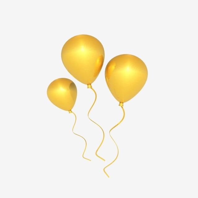 C4d Stereo Float Golden Balloon Sparkling Balloon Clipart Festive Balloon Floating Balloon Png Transparent Clipart Image And Psd File For Free Download Sparkle Png Autumn Leaves Background Floating Balloons