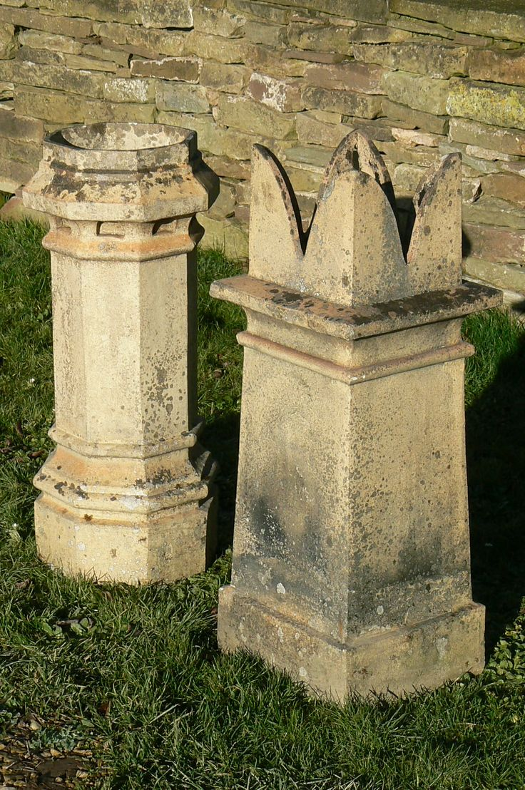 Salvaged Chimney Pots