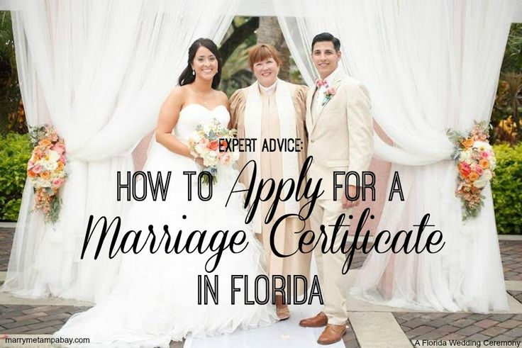 Advice for applying for a marriage certificate. Where & when to file & more answers about getting married by Tampa Bay officiant A Florida Wedding Ceremony.