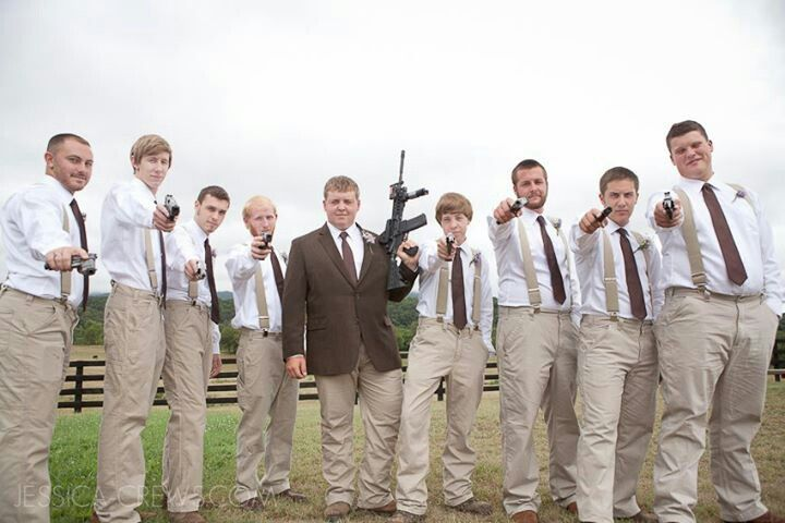 Groomsmen Attire Carhartt Pants Suspenders And Dress Shirt Tie From Men S Wearhouse Rustic Wedding Our Love Day Pinterest