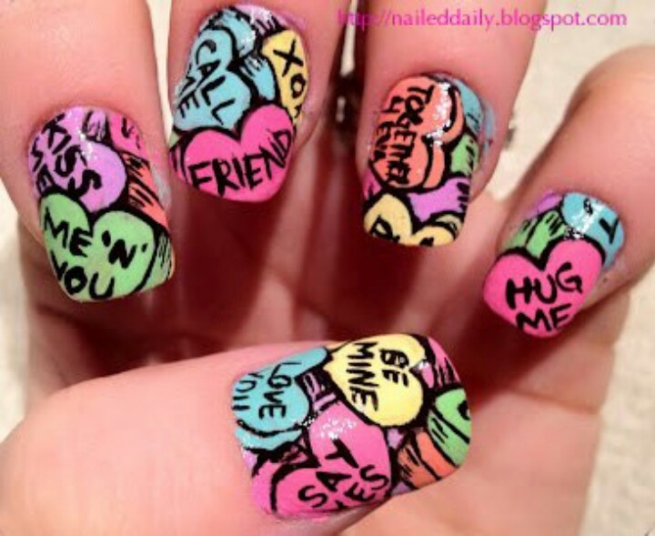 341 best Hearts & Love Themed Nail Designs images on Pinterest ...