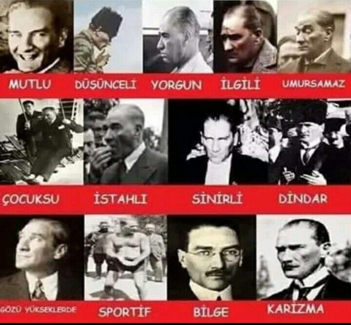 Mustafa Kemal Atatürk diye yazılır Dünya lideri diye okunur... Adamın hası Ata'mm....