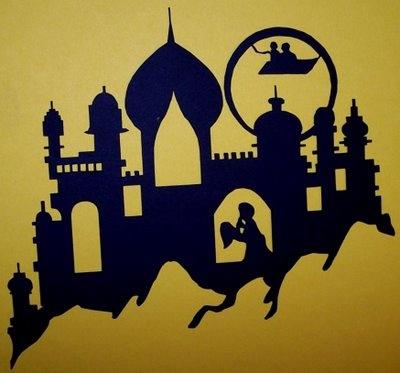 Arabian Nights - what a great idea for a wall stencil!