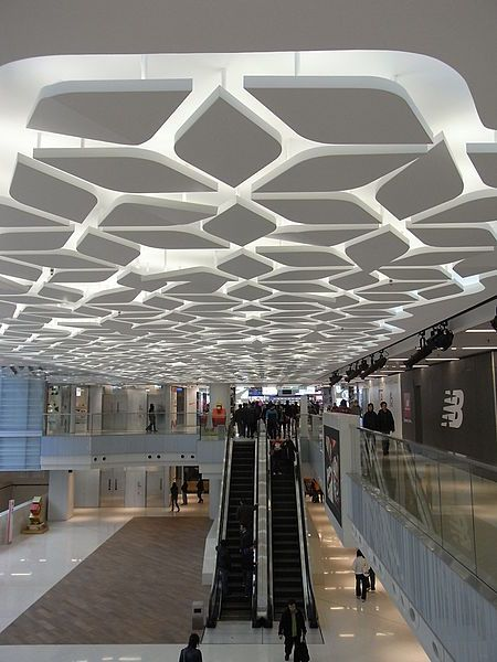 Interesting geometric ceiling design. #amazing #ceiling #design