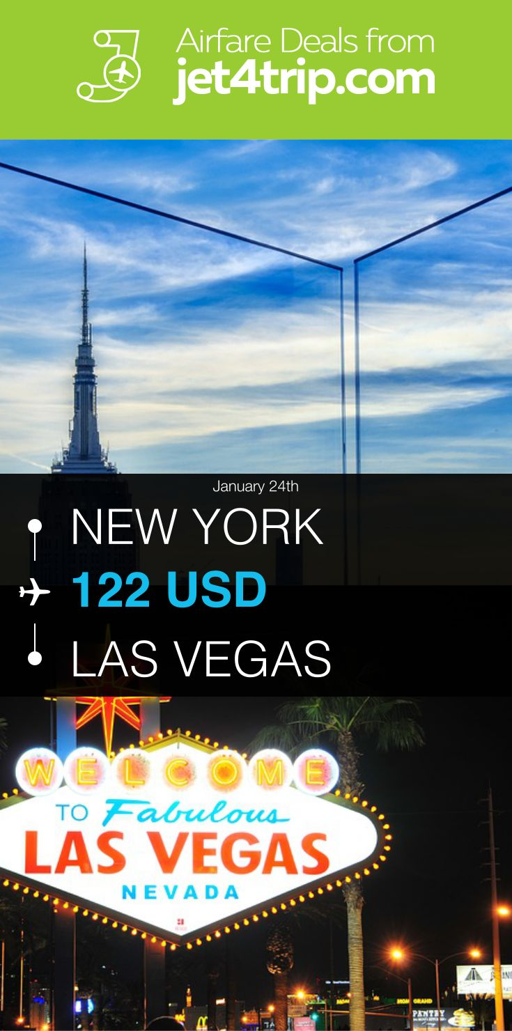 Flight from New York to Las Vegas for $122 by Spirit Airlines #travel #ticket #deals #flight #NYC #LAS #New York #Las Vegas #NK #Spirit Airlines