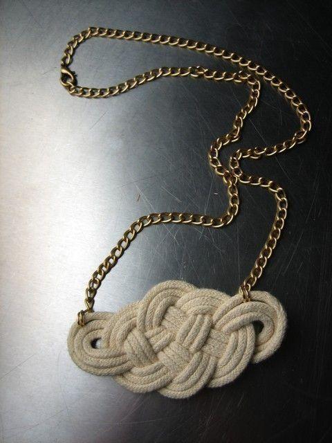 I always did love nautical. I think I'd make this a bracelet!