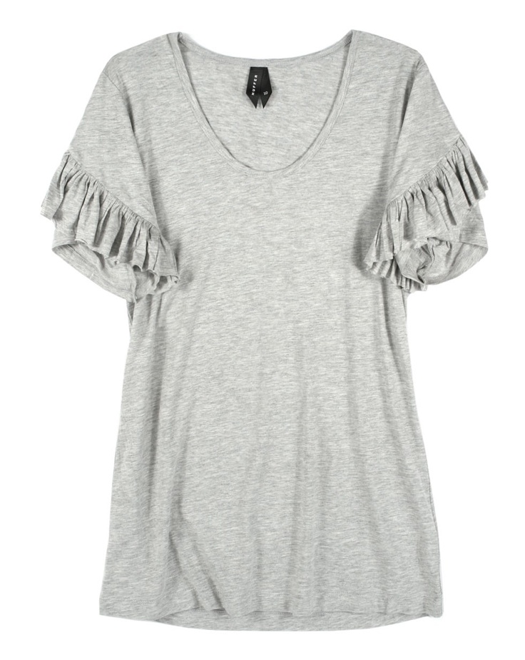 Flow Top in Grey by Huffer