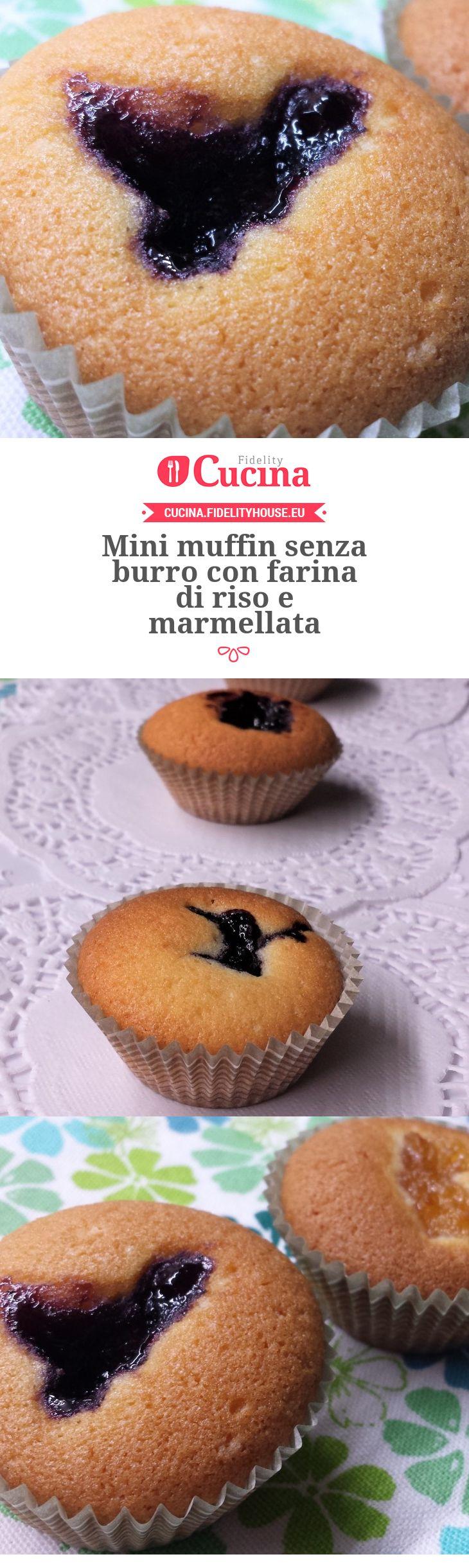 Mini muffin senza burro con farina di riso e marmellata della nostra utente Giada. Unisciti alla nostra Community ed invia le tue ricette!