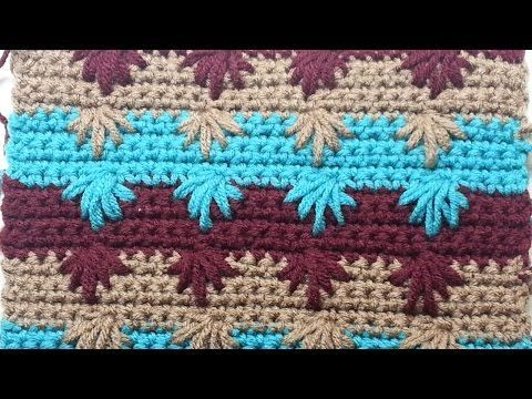 Learn to Crochet the Puff Spike Stitch #TUTORIAL - YouTube  I love this idea.  It makes me want to crochet.  I've been avoiding crocheting because it seemed difficult to me.  But this lady makes it look fun to me.