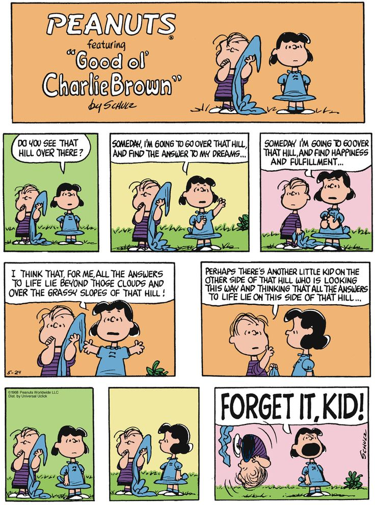 Classic Peanuts 5/24/15 - Originally appeared 5/26/68