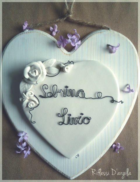 Primo piano del cuore che mamma Luisa ha regalato a sua figlia..Sabrina.. per il 1° anniversario di Matrimonio. :-) Luisa mi ha lasciato carta bianca...eh questo è stato il risultato