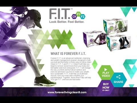 Forever F.I.T. is an advanced nutritional, cleansing and weight-management program designed to help you look and feel better in three easy-to-follow steps: Clean 9, F.I.T. 1 and F.I.T. 2. Clean 9 will help you begin to remove stored toxins from your body and feel lighter and more energized.