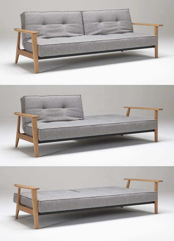 The Splitback Sofa With Frej Arms By Innovation Living USA Is A Comfortable  Tufted Sofa By Day And Supportive Sleeper Sofa By Night