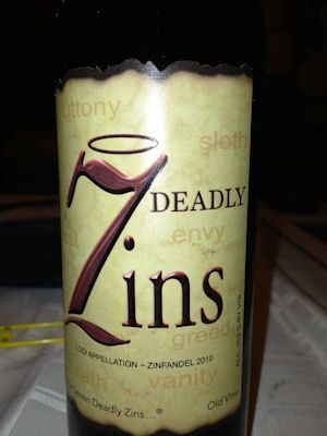 FULL REVIEW of 7 Deadly Zins, an old vine Zinfandel red wine from California. Review of 7 Deadly Zins includes price, aroma, taste and overall opinion.