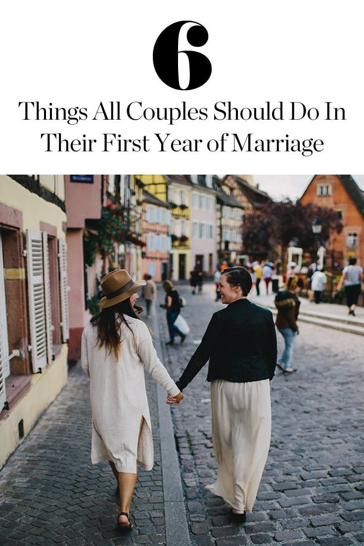 6 Things All Couples Should Do in Their First Year of Marriage via @PureWow