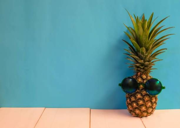 funny pineapple background