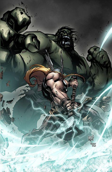 #Hulk #Fan #Art. (Hulk VS Thor) By:K-Bol. (THE * 5 * STÅR * ÅWARD * OF: * AW YEAH, IT'S MAJOR ÅWESOMENESS!!!™)[THANK Ü 4 PINNING<·><]<©>ÅÅÅ+(OB4E)