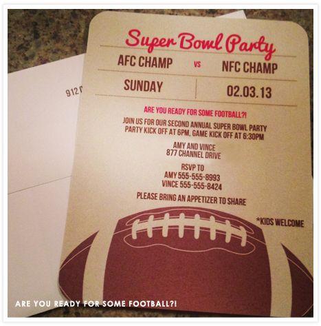 132 best images about Unique Party Themes – Super Bowl Party Invitation Wording