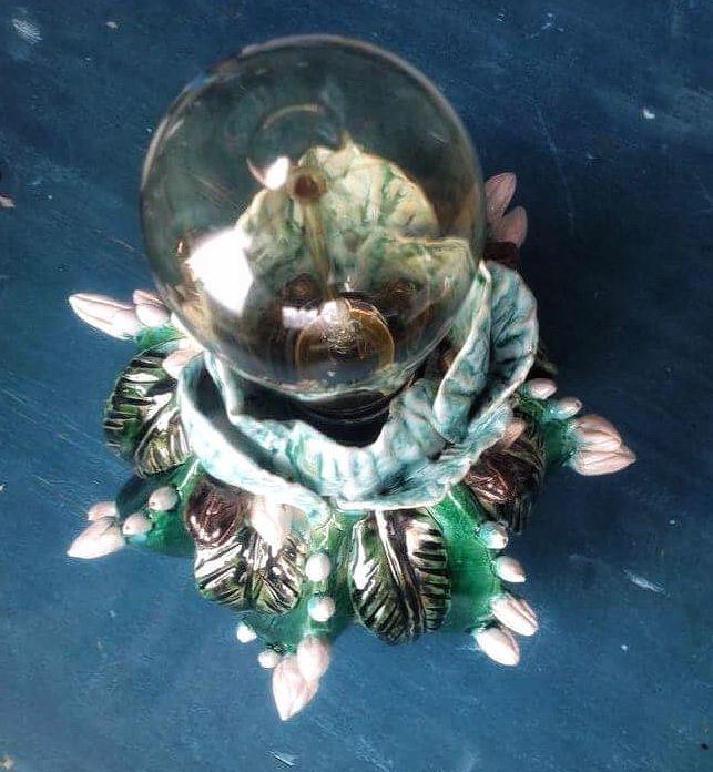 Ceramic green lamp