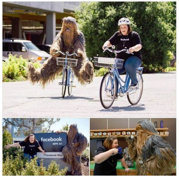 Chewbacca mask mom tours Facebook campus…with Chewbacca