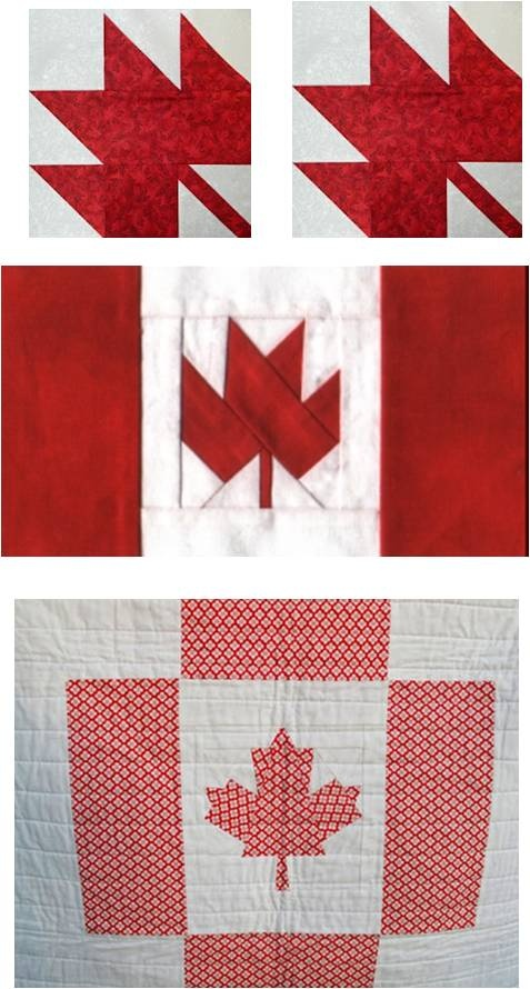 Free pattern day at Quilt Inspiration: Maple Leaf - Canadian Flag