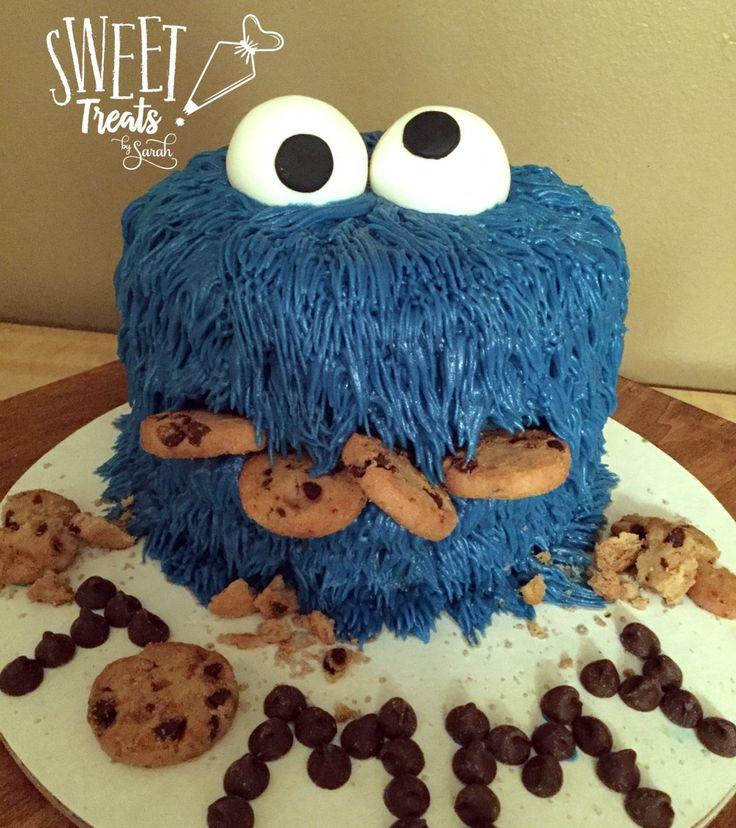 #cookiemonster smash cake