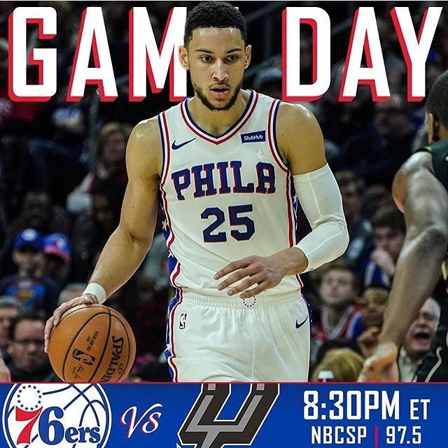 The 23-21 Sixers have visited the Alamo and will take on the Kawhi Leonard-less Spurs tonight in San Antonio. Ben Simmons coming off perhaps the best game of his career will look to feast on San Antonio's guards. Joel Embiid will have the opportunity to go to work down low and Dario Saric will have his hands full guarding All-Star LaMarcus Aldridge. - Jerryd Bayless JJ Redick Markelle Fultz and Furkan Korkmaz are out tonight. Guards Larry Drew II on a ten-day contract and James Young on a…