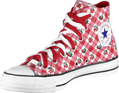 Cherry Converse! Too bad they're sold out on this website. I think they're fun. <3