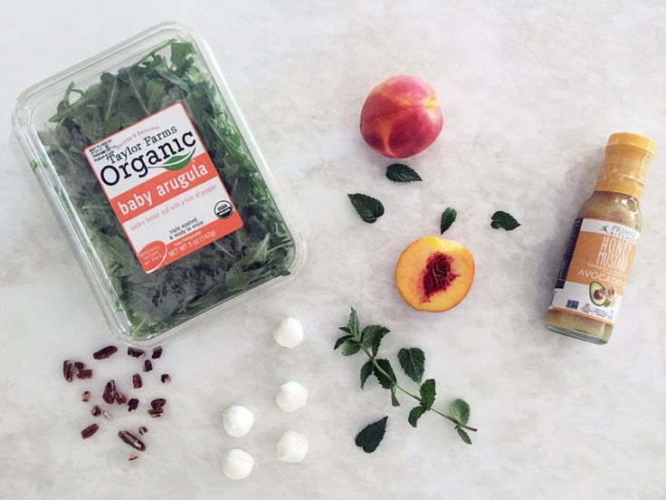 Primal Kitchen and Taylor Farms Easy Salad Recipes // Summer // Peaches // Clean Eating // Dressing // Fruit