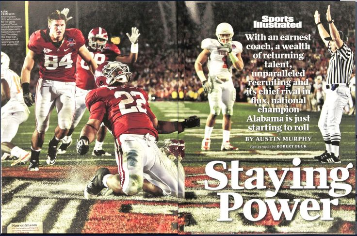 """Staying Power"" Jan. 18, 2010 Sports Illustrated - CFB National Championship Issue #Alabama #RollTide #Bama #BuiltByBama #RTR #CrimsonTide #RammerJammer"