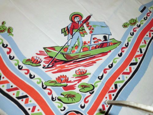 Vintage Southwestern Tablecloth Excellent | eBay